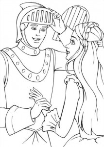 coloring page Barbie and the beggar (20)