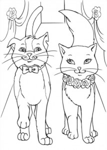 coloring page Barbie and the beggar (22)