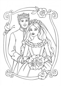 coloring page Barbie and the beggar (23)
