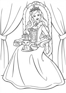 coloring page Barbie and the beggar (3)