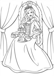 kleurplaat Barbie en de bedelaar (3)