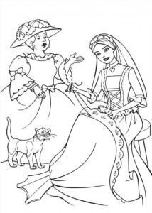 coloring page Barbie and the beggar (4)