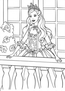 coloring page Barbie and the beggar (6)