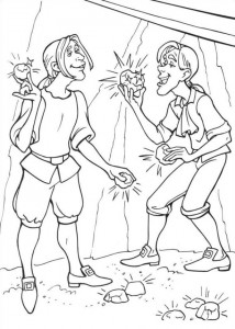 coloring page Barbie and the beggar (7)