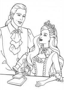 coloring page Barbie and the beggar (9)