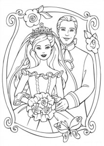 coloring page Barbie and the beggar