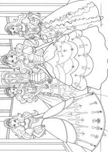 kleurplaat Barbie en de drie musketiers (11)