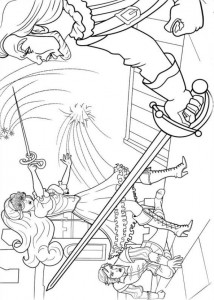 coloring page Barbie and the three musketeers (13)