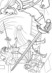 kleurplaat Barbie en de drie musketiers (13)