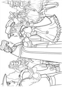 kleurplaat Barbie en de drie musketiers (14)