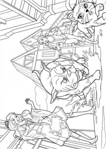 coloring page Barbie og de tre musketerer (2)