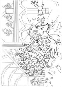 coloring page Barbie og de tre musketerer (5)