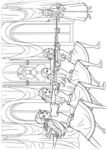 coloring page Barbie and the three musketeers (6)