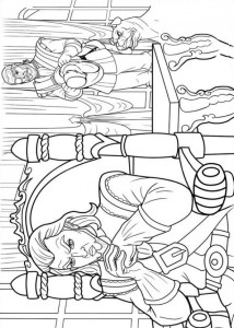 coloring page Barbie og de tre musketerer (7)