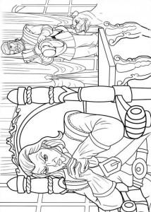 kleurplaat Barbie en de drie musketiers (7)