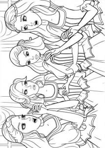 kleurplaat Barbie en de drie musketiers (9)
