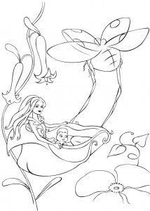 coloring page Barbie FairyTopia (12)