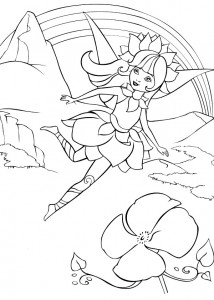 coloring page Barbie FairyTopia (14)
