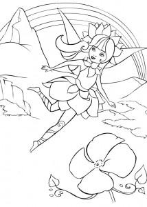 kleurplaat Barbie FairyTopia (14)