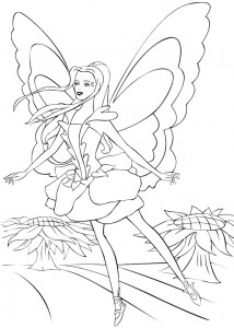 coloring page Barbie FairyTopia (16)