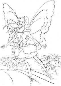 kleurplaat Barbie FairyTopia (16)
