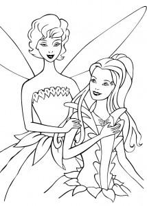 kleurplaat Barbie FairyTopia (17)