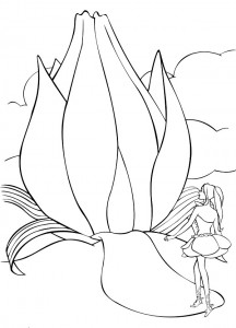 coloring page Barbie FairyTopia (2)