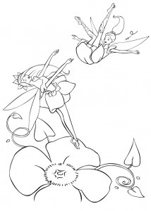 coloring page Barbie FairyTopia (3)