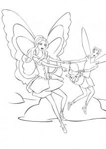 kleurplaat Barbie FairyTopia (4)
