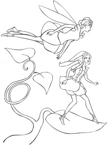 coloring page Barbie FairyTopia (7)