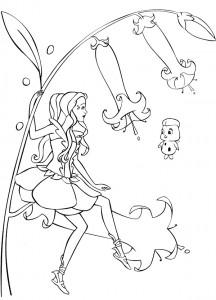 kleurplaat Barbie FairyTopia (9)