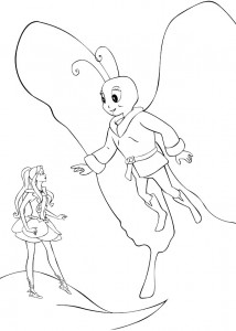 coloring page Barbie FairyTopia