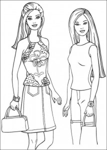Coloriage Barbie, encore plus! (12)