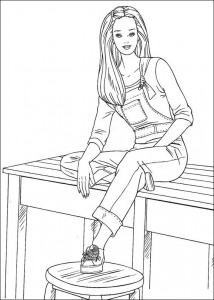 coloring page Barbie, even more! (28)