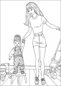 coloring page Barbie, even more! (3)