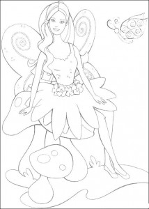 Coloriage Barbie, encore plus! (33)