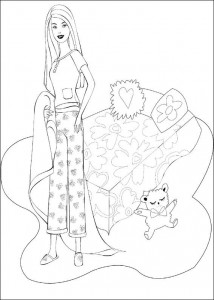Coloriage Barbie, encore plus! (34)
