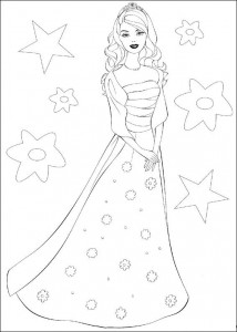 Coloriage Barbie, encore plus! (35)