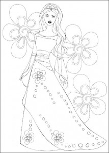 Coloriage Barbie, encore plus! (36)