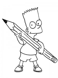 coloring page Bart (1)