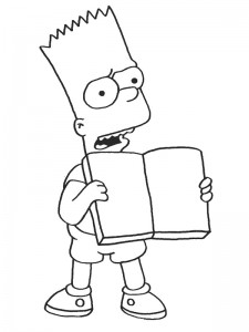 coloring page Bart (2)