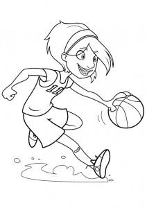 kleurplaat Basketbal (11)