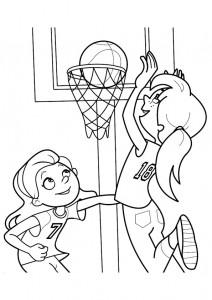 kleurplaat Basketbal (13)