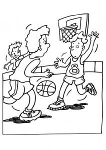 kleurplaat Basketbal (16)