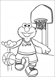 kleurplaat Basketbal (17)