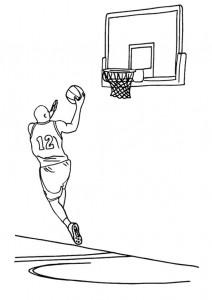 kleurplaat Basketbal (2)