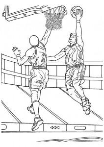 kleurplaat Basketbal (5)
