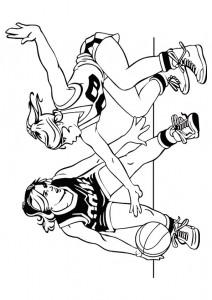 kleurplaat Basketbal (7)