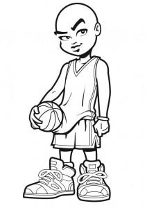 kleurplaat Basketbal (8)