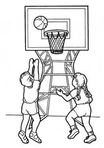 kleurplaat Basketbal (9)